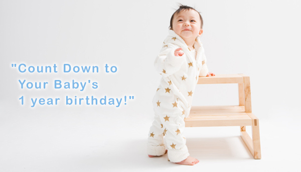 """Count Down to Your Baby's 1 year birthday!"""