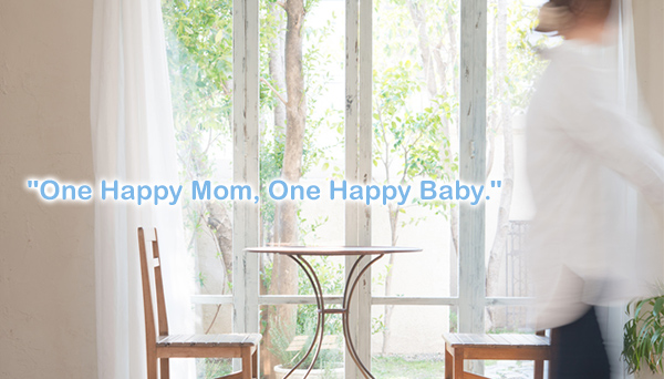 """One Happy Mom, One Happy Baby."""