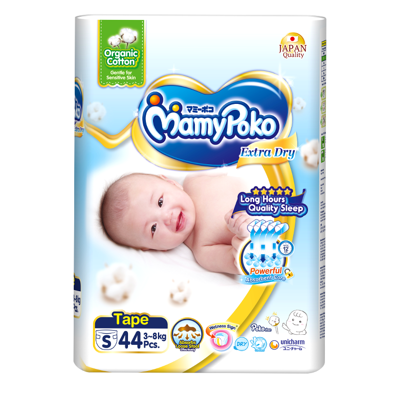 MamyPoko Extra Dry Skin with Organic Cotton (S Size)