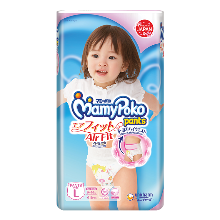 MamyPoko Pants Air Fit Diaper / L / Girl