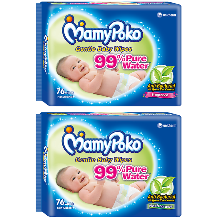 MamyPoko Gentle Cleansing Wipes Anti Bacterial